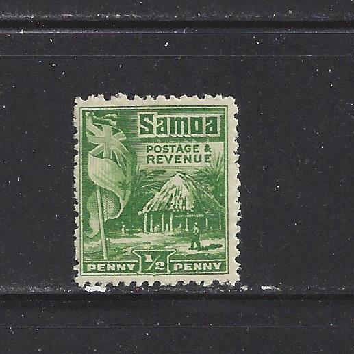 SAMOA NZ MANDATE - 142 - 143 - MH - 1921 - BRITISH FLAG SAMOAN HOUSE - $6.00