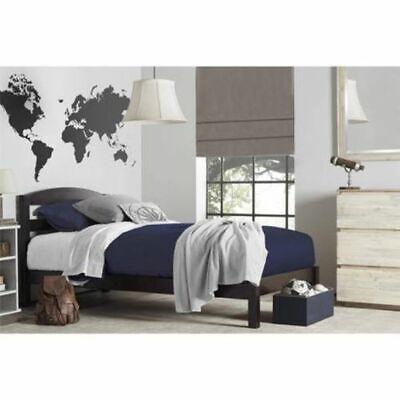 Twin Wooden Platform Wood Bed Frame with Slat Support Mattre