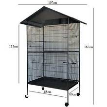Brand New Large Steel Bird Parrot Pet Aviary Cage Wheel coated Auburn Auburn Area Preview
