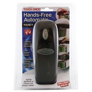 (Brand New!) (black) Hands-Free Automatic HANDY CAN OPENER