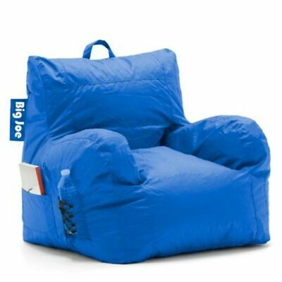Big Joe Bean Bag Chair with Cup Holder and Pocket Stain Resistant Sapphire Blue Blue Bean Bag Chair