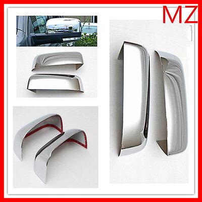 For 09-18 Dodge 1500 2500 Chrome Door Rear View Top Half Mirror Cover Set Pair 1500 Door Mirror Cover