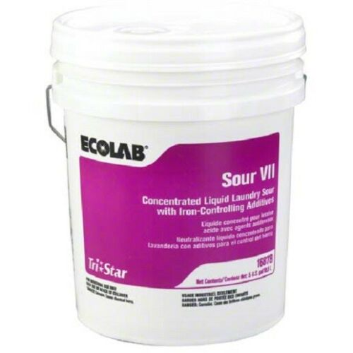 Ecolab 6116878 Tri-Star Laundry Sour VII,  5 Gal.