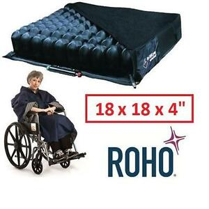 NEW ROHO WHEELCHAIR CUSHION - 123395765 - WITH PUMP AND CUSHION COVER 18 x 18 x 4""