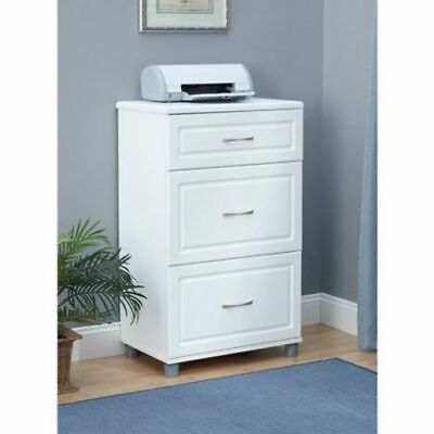 NEW White 3 Drawer Base Storage Cabinet Ameriwood Home Office Furniture ()