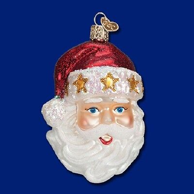 """Starry Hat Santa"" (40260) Old World Christmas Glass Ornament"