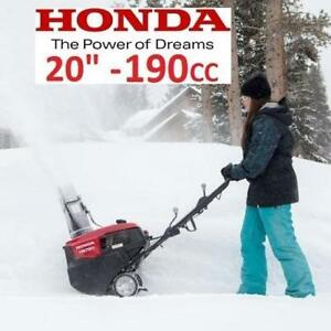 "NEW* HONDA GAS SNOW BLOWER 20"" HS720AS 154787556 190CC ELECTRIC START SINGLE STAGE SNOW THROWER"