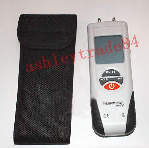 1PCS HT-1890 Digital Manometer Differential Air Pressure Meter Gauge