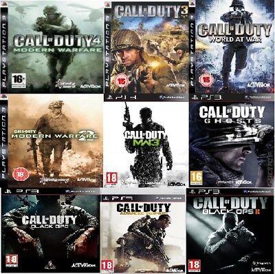 Call of Duty PS3 Advanced Modern Warfare Black ops 2 II 2 3 4 World Ghosts PS3