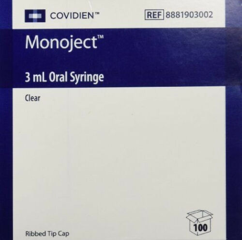 Monoject Oral Syringe 3ml Clear - Box of 100