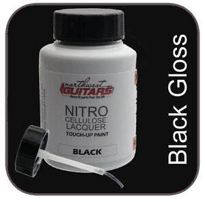 Nitrocellulose Lacquer Guitar Paint - Black Gloss Touch-up Pot 50ml