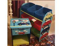 Kids bedroom furniture toy storage bedside table