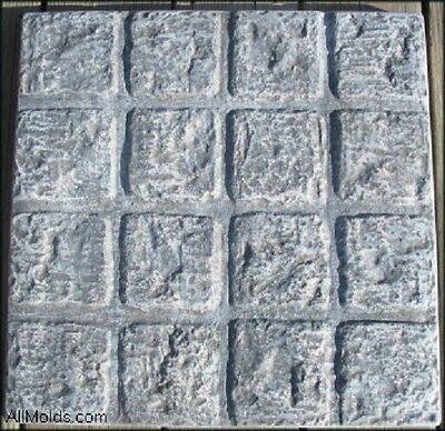 Cobblestone Concrete Mold - Cobblestone Square concrete cement stepping stone mold.