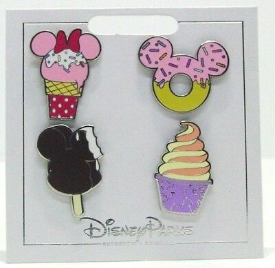 Disney Trading Pins Themed * CUPCAKES DELICIOUS! * Carded NEW Booster Set of 4 (Disney Cupcakes)