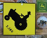 Sign Tractor Crossing