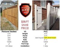 PVC FENCE SAME PRICE AS WOOD