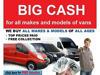Need a Quick sale on your van or pick up then please call us today we buy all commercial vehicles