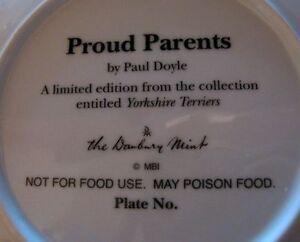 Proud Parents; Yorkshires by Paul Doyle- Danbury Mint collection West Island Greater Montréal image 2