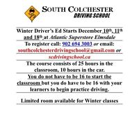 Drive Education Class available in East Hants