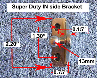 Right Angle Stud - Right Angle 13mm Stud EXTRA Heavy Gauge Bracket Marine Strut IN-SIDE Mount New
