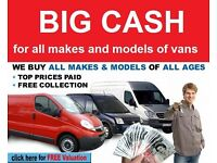 We buy all types of vans and light commercials