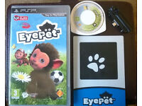 psp eye pet camera and game