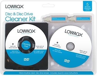 Laser Lens Cleaner Cleaning Kit for XBOX 360 PS3 BLU RAY DVD PLAYER DISC CD - Lens Cleaning Disc