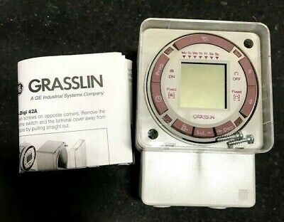 Grasslin Digi 42a-24 Electronic Time Switch Remote 24v Programmable Timer Acdc