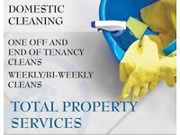 Weekly and bi-weekly cleans. One off and End of Tenancy