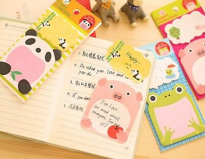 Notepad Memo Cartoon Animal Sticky Notes Pads Portable Scratch Paper Notepads