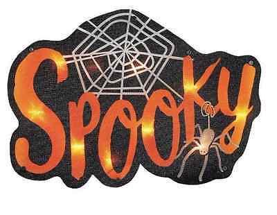 Spooky Web Spider Halloween Fall Lighted Light Window Decoration Indoor Outdoor