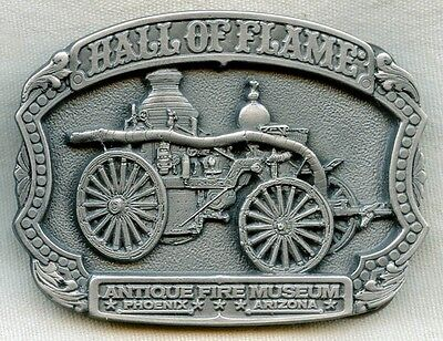 Limited Edition Pewter Belt Buckle from Hall of Flame Fire Museum Phoenix, AZ
