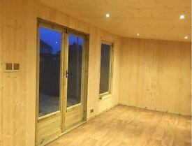 summerhouse, chalet, man cave, log cabin, shed, garage, workshop etc.