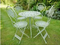 ~~~Table and four chairs Garden Bistro Set Sage Green *****New boxed unused item***** ~~~