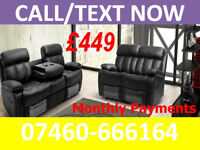 Recliner sofa 3 and 2 seater - Pay Monthly ~~