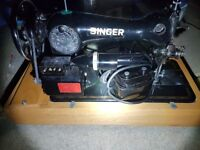 old electric singer sewing machine