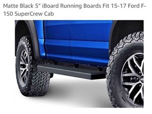 """5"""" Black, iBoard Running Boards for a Ford"""