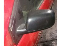 VW Polo N/S Wing Mirror In Black (2002)