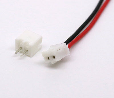 120 Mini Plugs - 50 SETS Mini Micro JST 2.0 PH 2-Pin Connector plug with Wires Cables 120MM