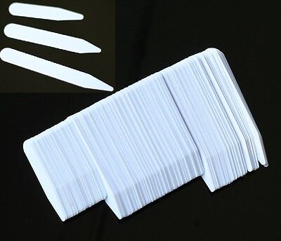 Tinksky 200pcs Plastic White Collar Stays Bones Stiffeners in 3 Sizes US POST