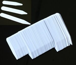 200-Plastic-White-Collar-Stays-Bones-Stiffeners-3-Sizes