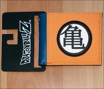 Dragonball Z Costume (DragonBall Z Son Goku Kame Turtle Symbol Cosplay Costume Bi-Fold Men Boys)