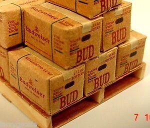 Budweiser Beer Case (s) Miniature 1/24 Scale G Scale Diorama Accessory Item(s)