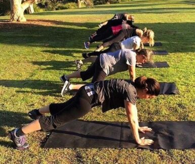 Outdoor Group Fitness Training