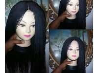 Hand twisted wig
