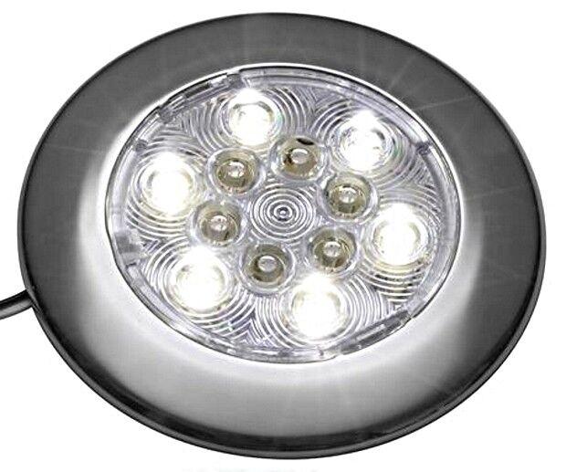 ATTWOOD White Round 6 LEDs Courtesy Light 3W 12V 100mm Diameter