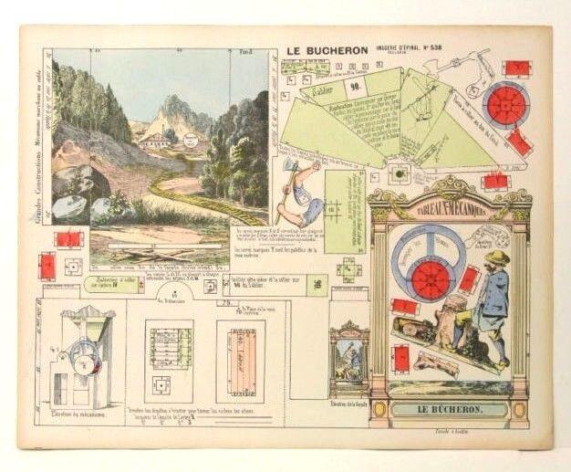 Imagerie D'Epinal No 538 Le Bûcheron/ Grandes Constructions toy paper model