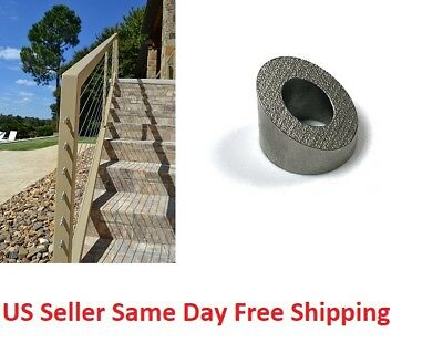T316 Stainless 30 Degree Angled Stair Washer For 18 316 Cable Railing