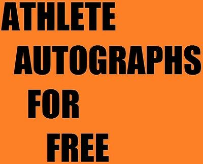 How to get FREE autographs from your favorite athletes **LOOK** baseball ++++