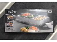 Elgento three tray buffet server